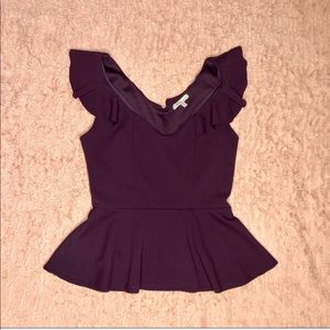 Purple Peplum Top!